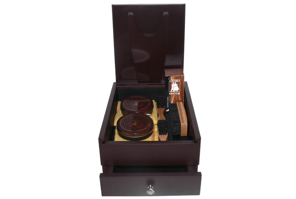 Shoe Shine Kit - Men Ideal Gift Set - Pied Valet Box by Famaco Paris - valentinogaremi-usa