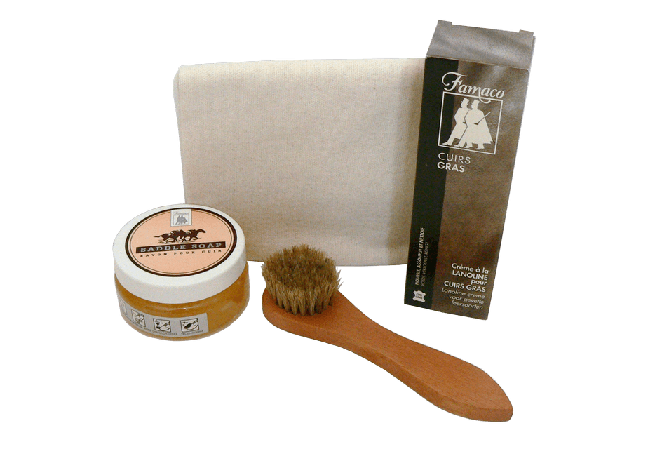 Oiled Leather Shoe Care Set by Famaco - valentinogaremi-usa