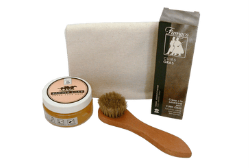 Oiled Leather Set – Garments Accessories & Shoe Care Kit by Famaco - valentinogaremi-usa