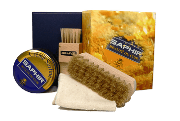 Saphir Shoe Shine Kit – Travel Small Gift Set - valentinogaremi-usa