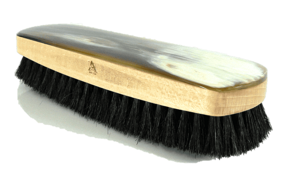 Luxury Shoe Shine & Polishing Brush – Genuine OxHorn Top by Abbeyhorn - valentinogaremi-usa