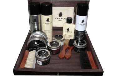 Shoe Shine Kit Gift - Luxury Shoe Care Valet - Grande Cube by Famaco France - valentinogaremi-usa