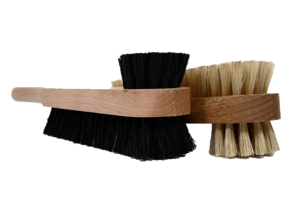 Combo Shoe Polish Brush and Cream Paste Applicator by Valentino Garemi - valentinogaremi-usa