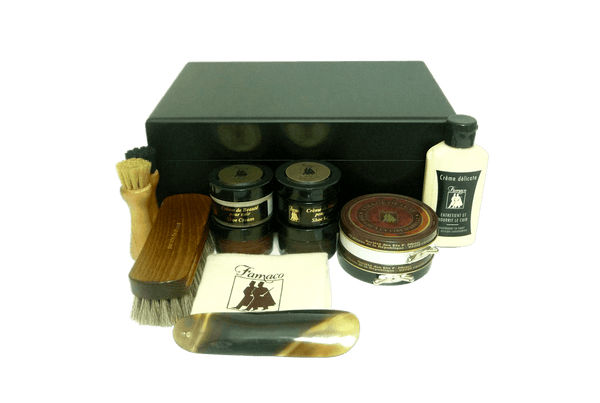 Luxury Shoe Care Kit - Superb Mother's Gift - Monet Noir by Famaco - valentinogaremi-usa