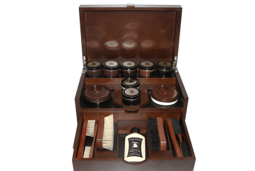 Shoe Shine Kit - Luxury Shoe Care Set - The King by Famaco France - valentinogaremi-usa