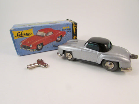 Vintage Schuco Micro Racer Mercedes 190SL 01471 Made by Schuco of West Germany Original Box and Windup Key Included