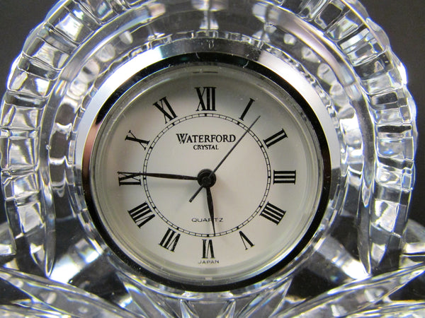 Waterford Crystal Quartz Small Mantel Clock Paperweight