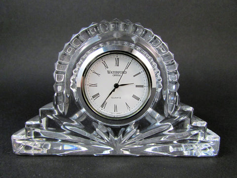Waterford Ireland Crystal Small Mantel Clock or Desk Paperweight