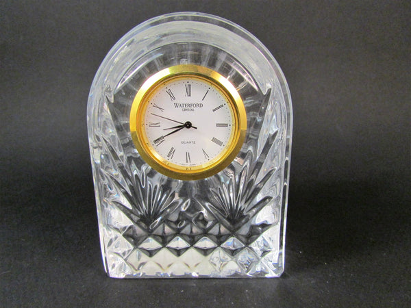 Waterford Crystal Small Dome Quartz Clock Gold Tone