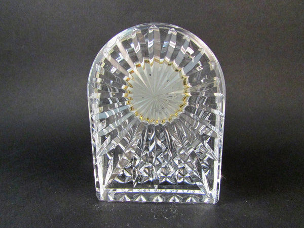 Waterford Crystal Gold Tone Small Dome Clock Desk Paperweight