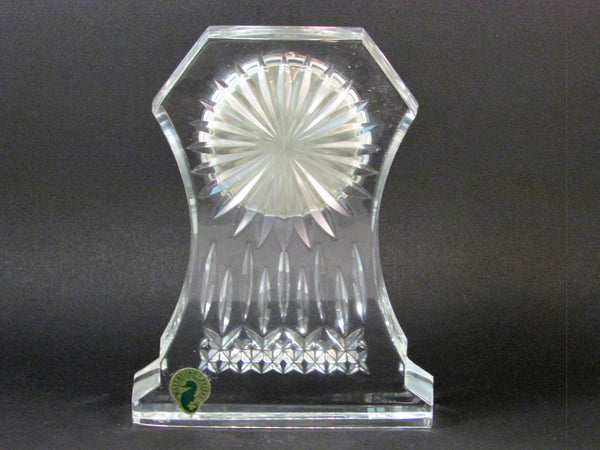 Waterford Crystal Clock Lismore Pattern Quartz Clock Paperweight Mantle Clock