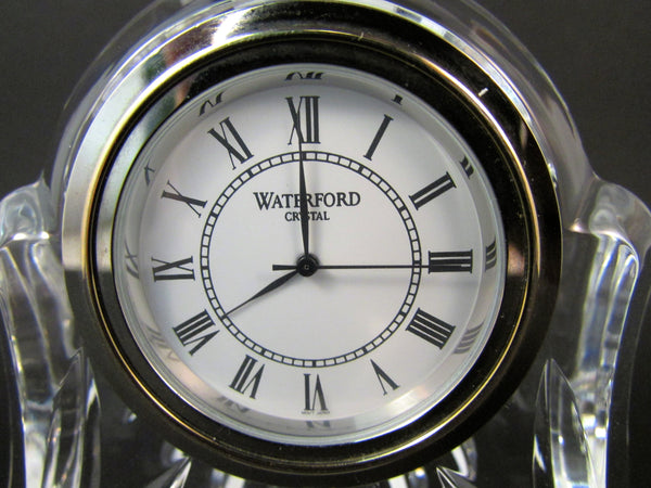 Waterford Abbey Clock Lead Crystal Mantel Clock