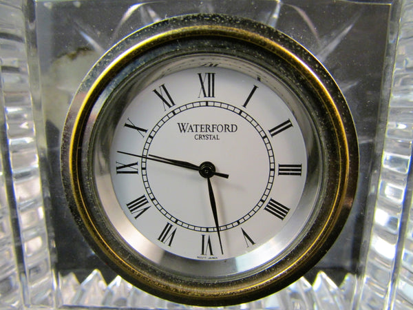 Waterford Crystal Clock Quartz Movement Desk Paperweight