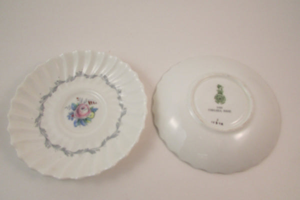 Vintage Royal Doulton Chelsea Rose Demitasse Cup and Saucer Bone China Demitasse Three Sets Made in England