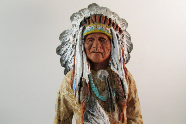 Vintage Sioux Chief by Daniel Monfort 1986 Collectible Figurine