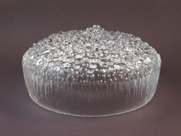 Vintage Tapio Wirkkala for iittala Ultima Thule Glass Bowl Scandinavian Glass Bubbled and Textured Glass Bowl