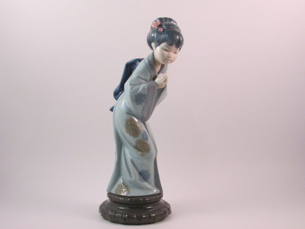 Vintage Lladro Japonesita Sayonara 4989 Retired Porcelain Figurine With Original Box