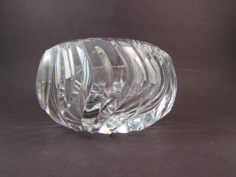 Vintage Val St Lambert Cut Crystal Ashtray Belgium Crystal