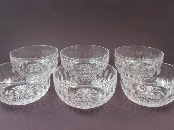 Vintage Tudor Crystal Bowl Catherine III Pattern Hand Crafted Full Lead Crystal Set of Six Made in England
