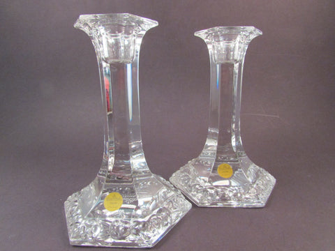 Vintage Rosenthal Classic Crystal Candlestick Holders Maria Pattern Made in Germany Octagonal Shape Candle Holders