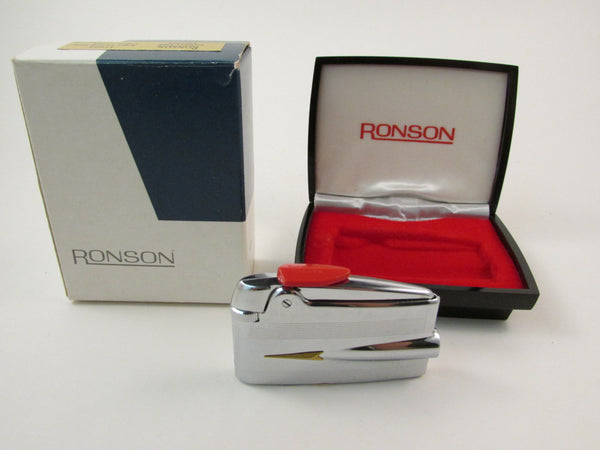 Vintage Ronson Varaflame Adonis Lighter with Original Box and Original Paperwork Never Used