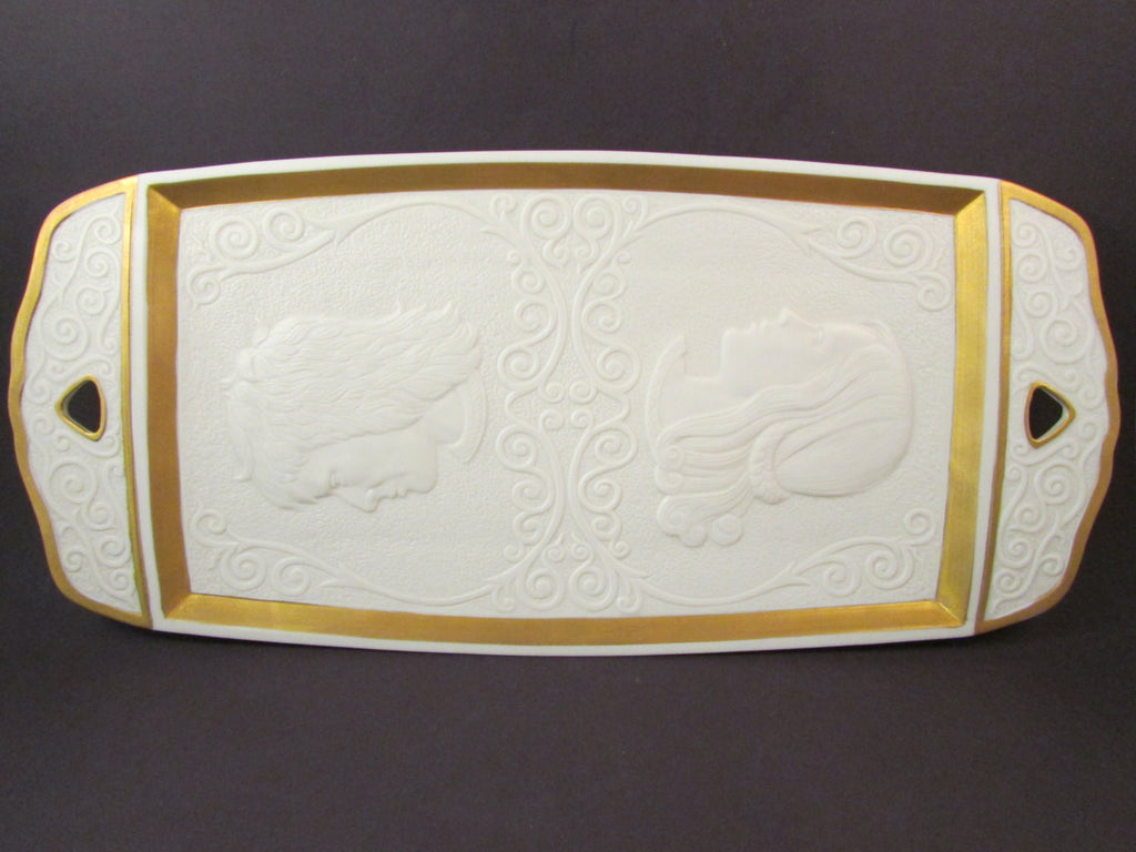 Vintage Lenox Romeo and Juliet Porcelain Tray by Artist Laszlo Ispanky Limited Edition Number 564 of 5000