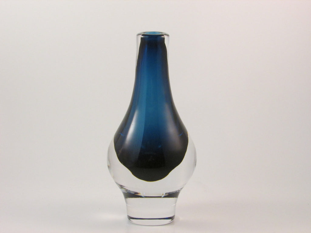 Vintage Kosta Boda Vase Mona Morales Schildt for Kosta Signed Art Glass Vase Kosta SH 182 Made in Sweden