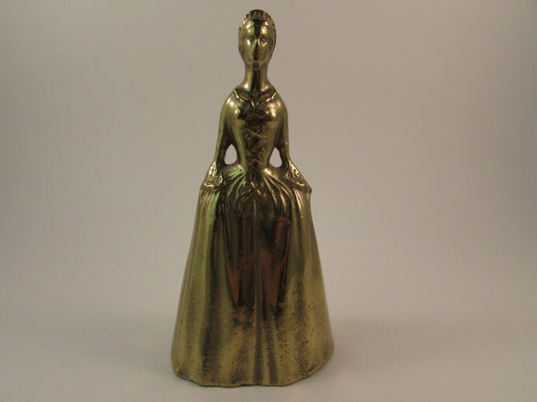 Vintage Virginia Metal Crafters Cast Brass Colonial Lady Bell Made in USA