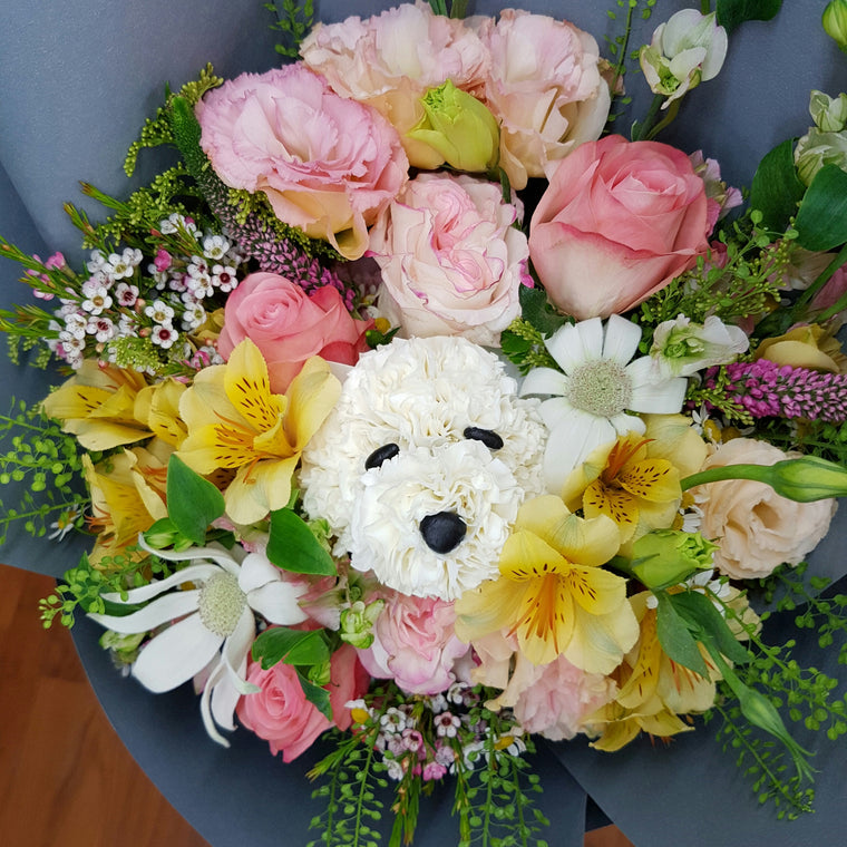 Mon Lou Lou Doggie Bouquet - Lou Flower Studio
