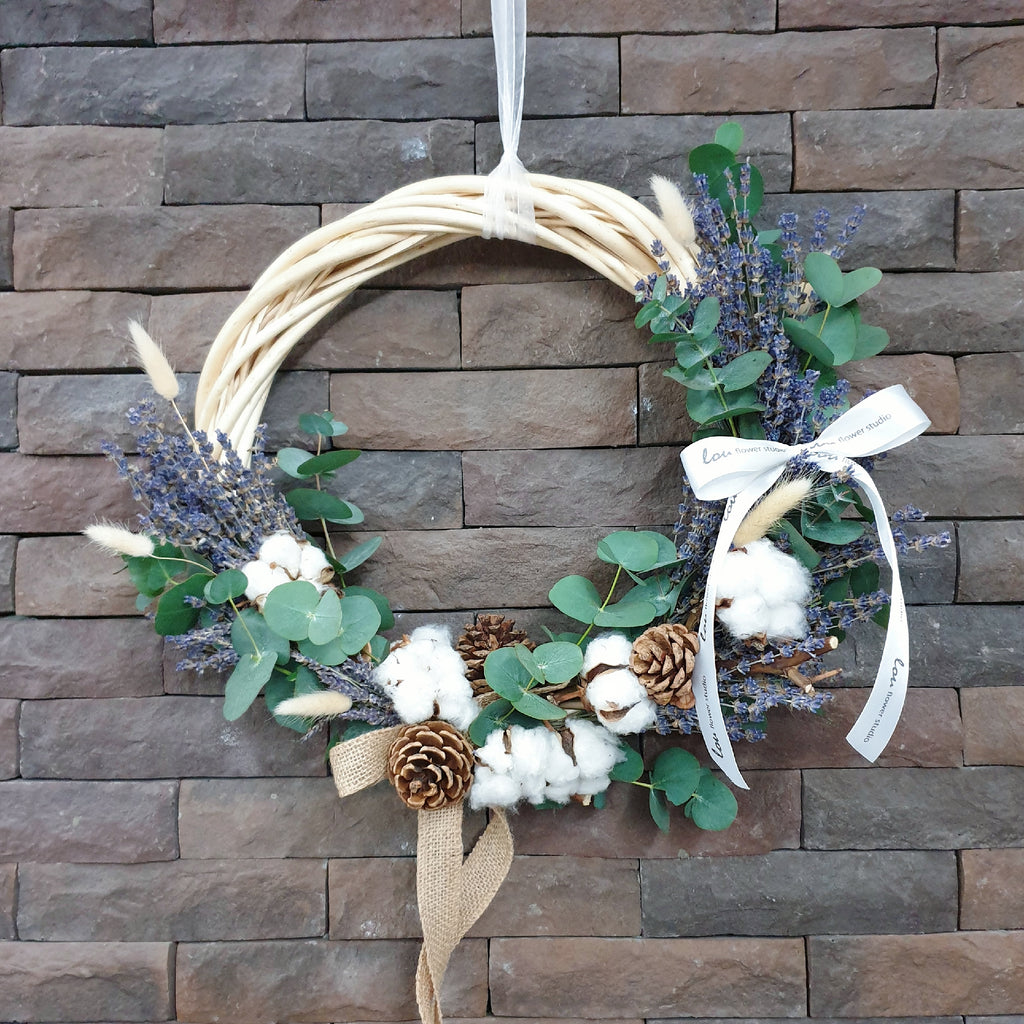 Lavender Christmas Wreath - Lou Flower Studio