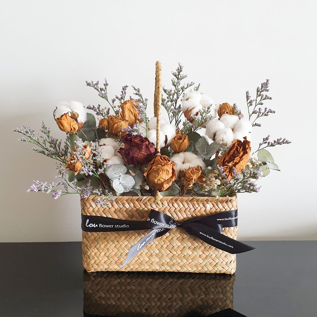 A Basket of Fluffies - Lou Flower Studio