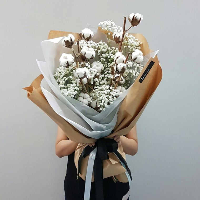 Mother's Day Special - Cotton Blooms Bouquet - Lou Flower Studio