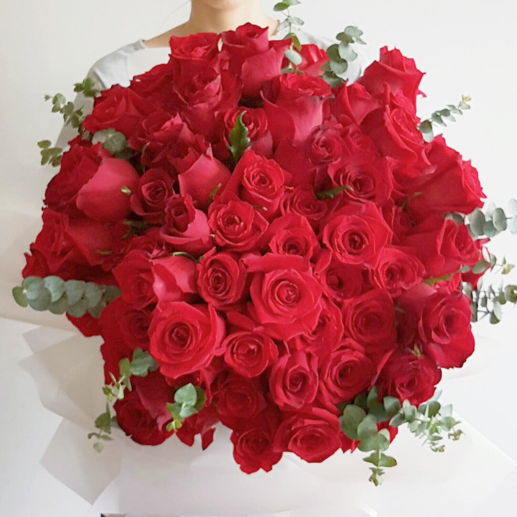 99 Roses Bouquet - Lou Flower Studio
