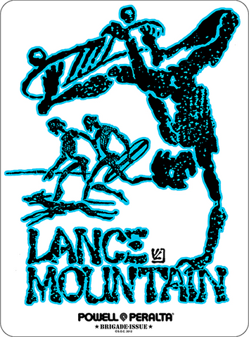 BONES BRIGADE (LANCE MOUNTAIN) STICKER VARIOUS COLORS