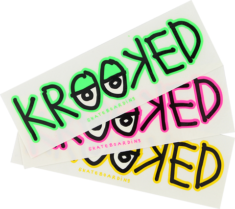 KROOKED (EYES) STICKER VARIOUS COLORS