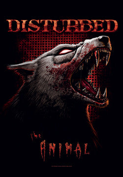 DISTURBED (THE ANIMAL) FABRIC POSTER