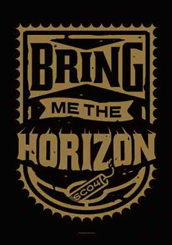 BRING ME THE HORIZON (DYNAMITE SHIELD) FABRIC POSTER