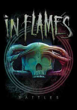 IN FLAMES (BATTLES) FABRIC POSTER
