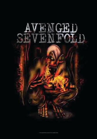 AVENGED SEVENFOLD (FIRE BAT) FABRIC POSTER