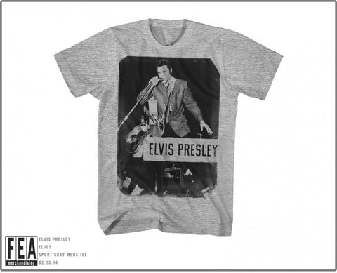 ELVIS PRESLEY (STANDING WITH MIC) T-SHIRT