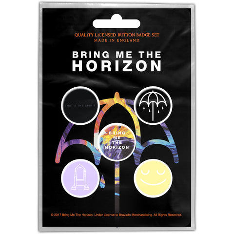 BRING ME THE HORIZON BUTTON BADGE PACK: THAT'S THE SPIRIT
