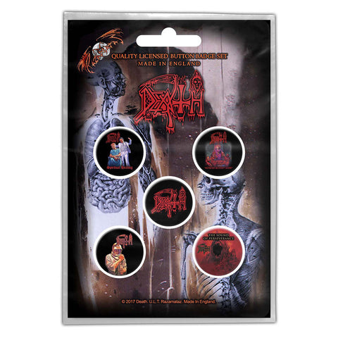 DEATH BUTTON BADGE PACK: ALBUMS