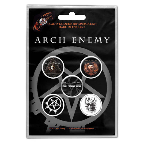 ARCH ENEMY BUTTON BADGE PACK: WILL TO POWER