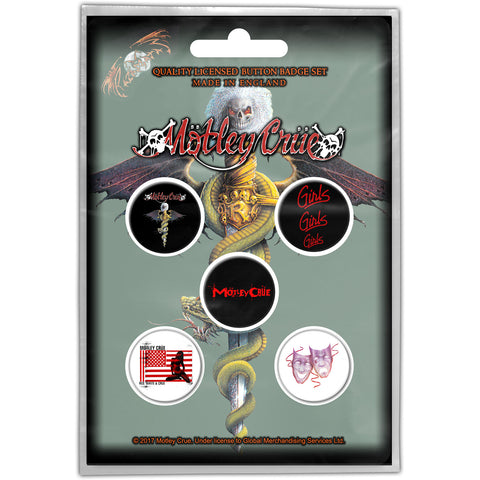 MOTLEY CRUE BUTTON BADGE PACK: DR FEELGOOD