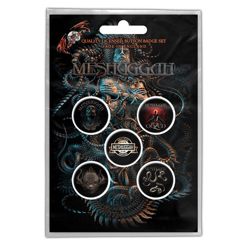 MESHUGGAH BUTTON BADGE PACK: VIOLENT SLEEP OF REASON