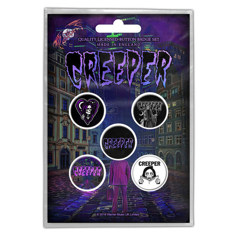 CREEPER BUTTON BADGE PACK: ETERNITY IN YOUR ARMS