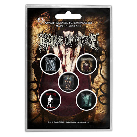 CRADLE OF FILTH BUTTON BADGE PACK: ALBUMS