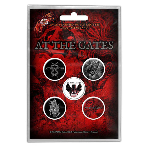 AT THE GATES BUTTON BADGE PACK: DRINK FROM NIGHT ITSELF