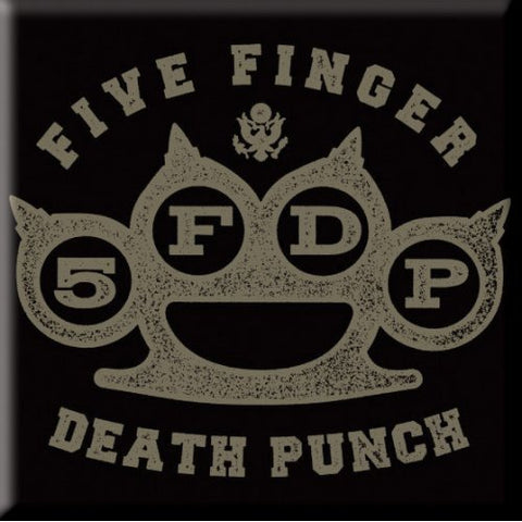 FIVE FINGER DEATH PUNCH FRIDGE MAGNET: BRASS KNUCKLE