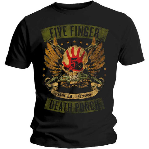 FIVE FINGER DEATH PUNCH (LOCKED AND LOADED) T-SHIRT